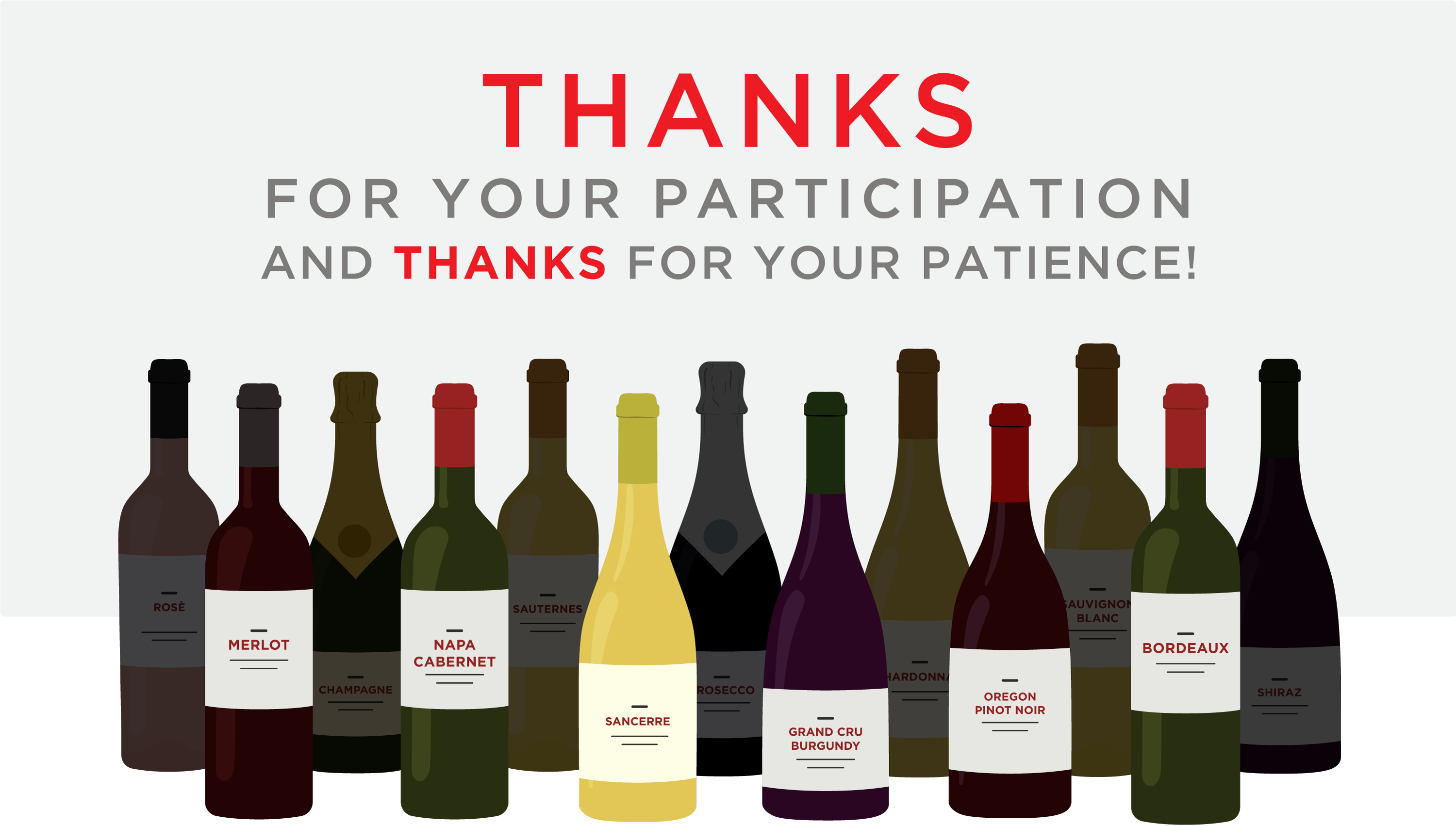 Thanks for your participation and thanks for your patience.